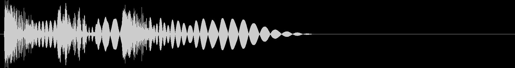 ビュビュビュ(弾発射・連射・高速・3連)の未再生の波形