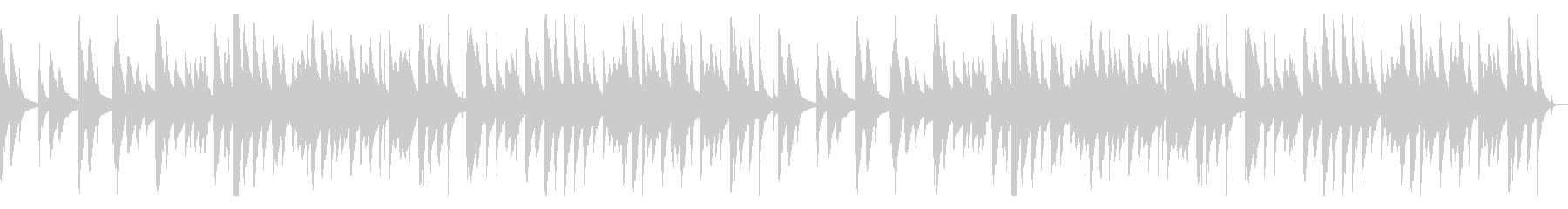 琴の鼓の純和風曲の未再生の波形