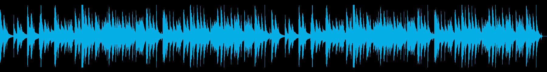 琴の鼓の純和風曲の再生済みの波形