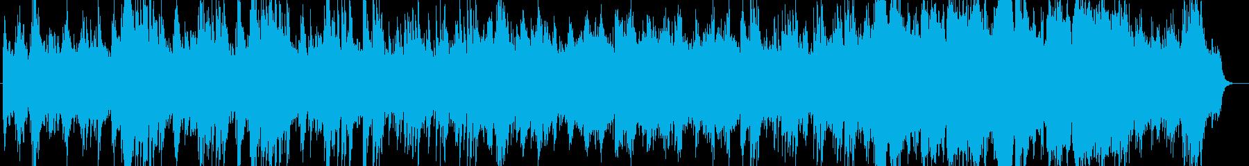 透明感のあるピアノシンセサウンドの再生済みの波形