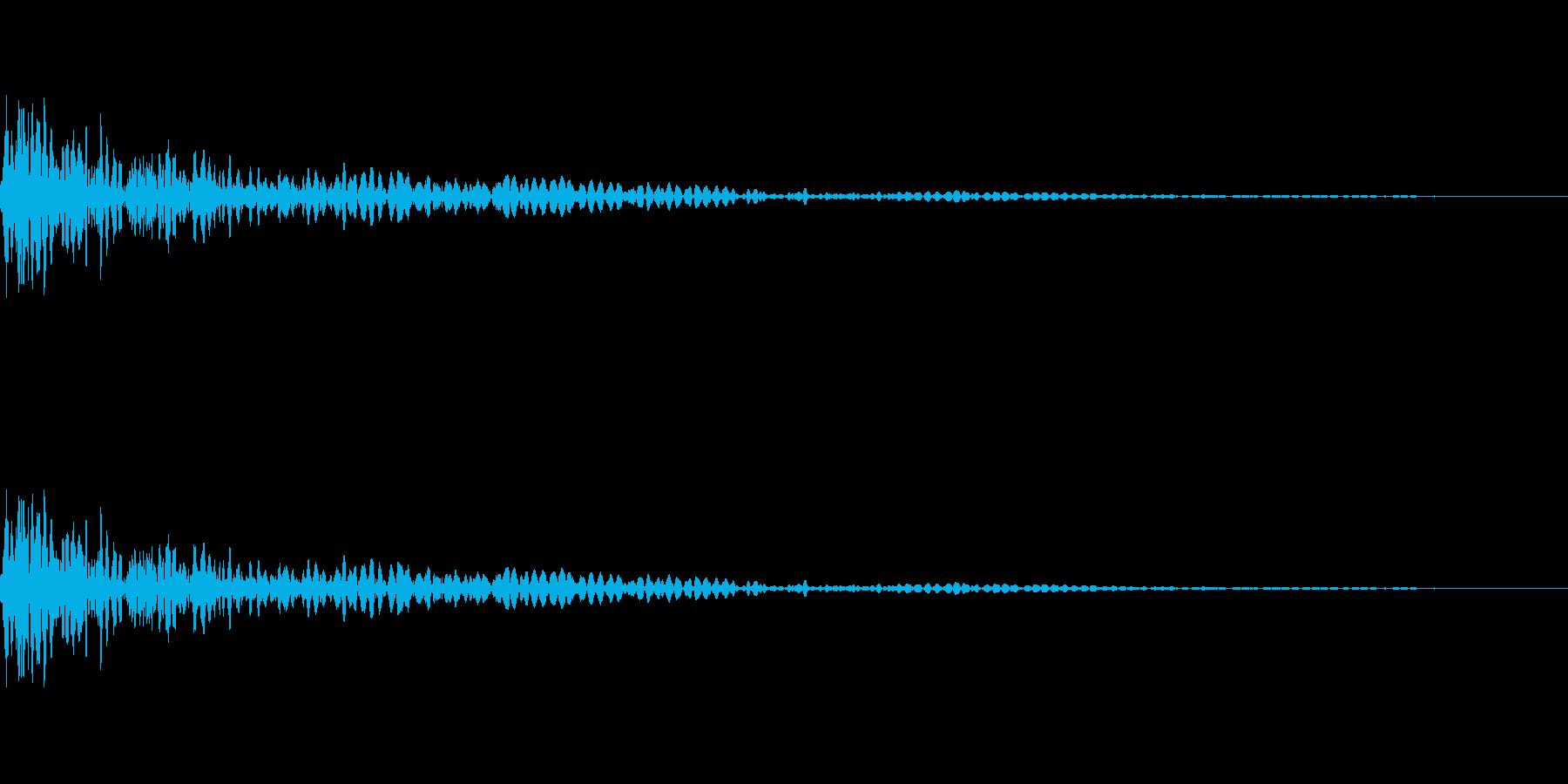 勢いよくドーンと壁にぶつかる効果音の再生済みの波形