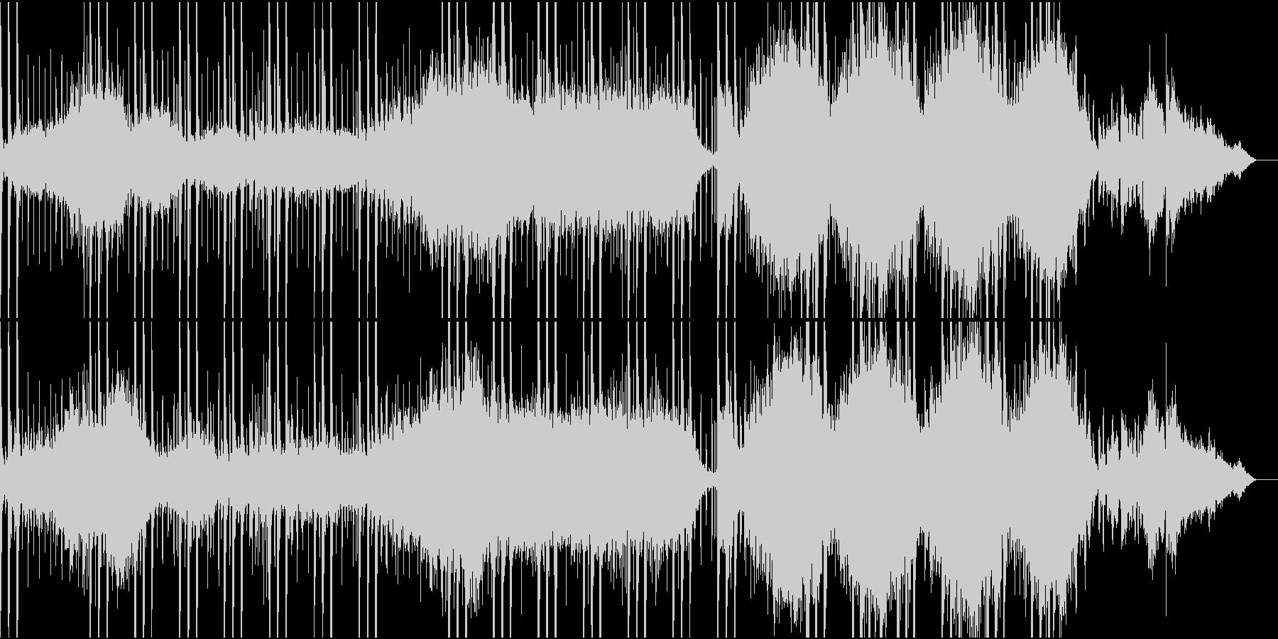 幻想的な雰囲気のシンセサイザー曲の未再生の波形