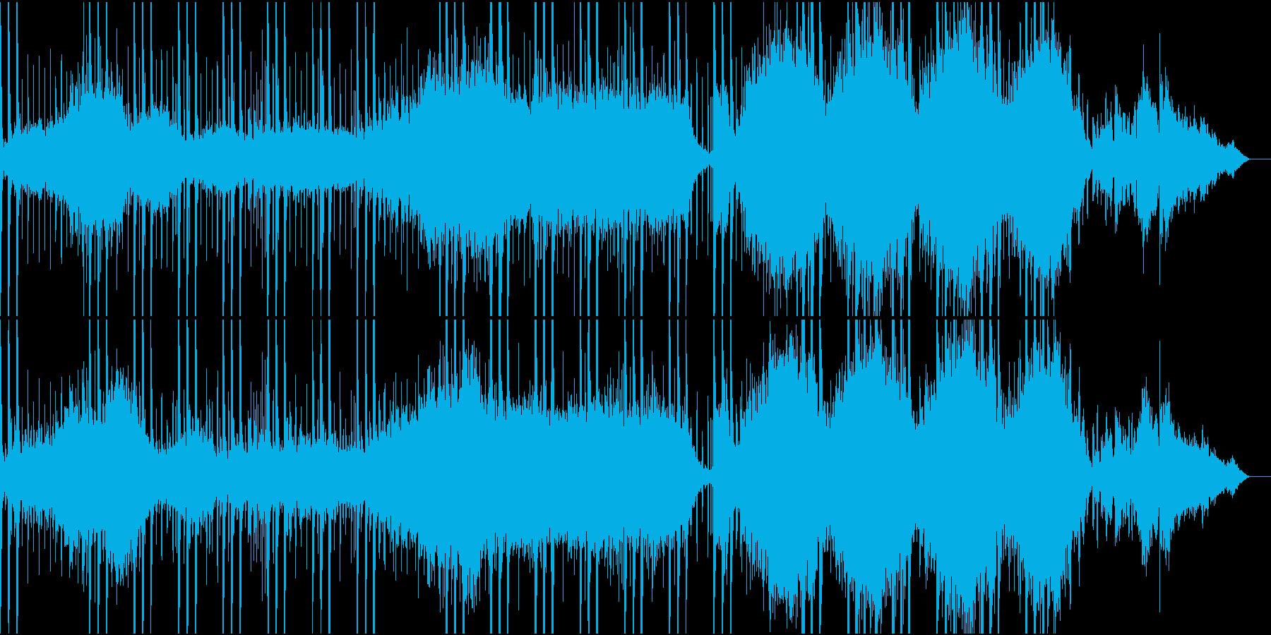 幻想的な雰囲気のシンセサイザー曲の再生済みの波形