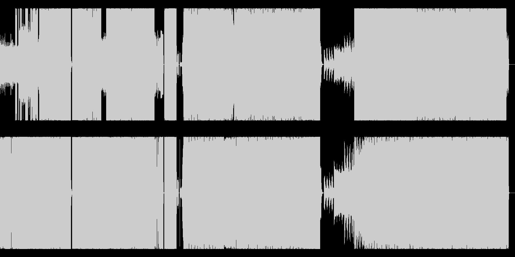 80年代風 テクノポップのリミックスの未再生の波形