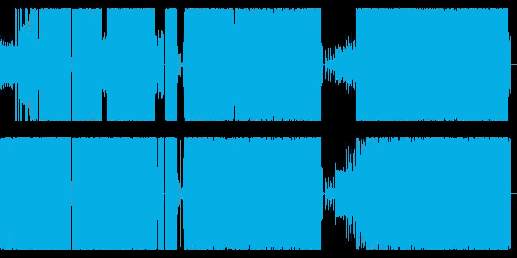 80年代風 テクノポップのリミックスの再生済みの波形