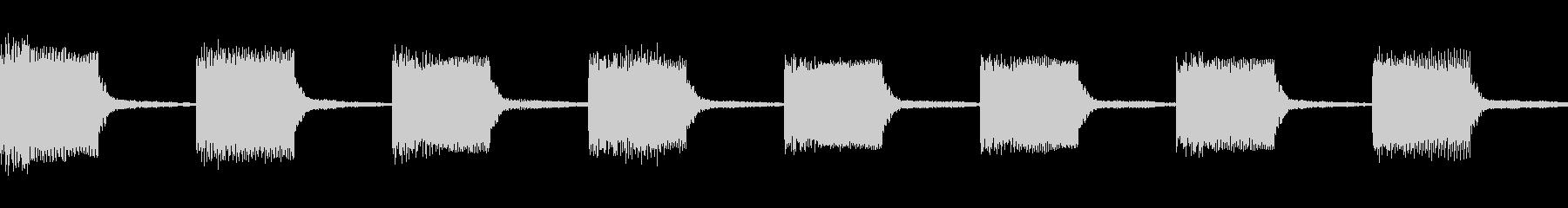 警告音 アラート 緊急事態01(ループ)の未再生の波形
