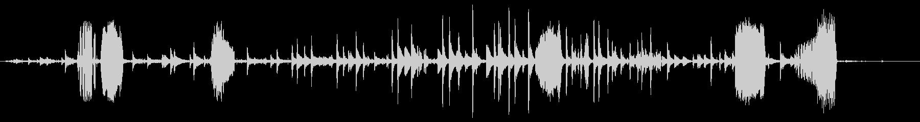 ヤギ、カウベルの群れの未再生の波形