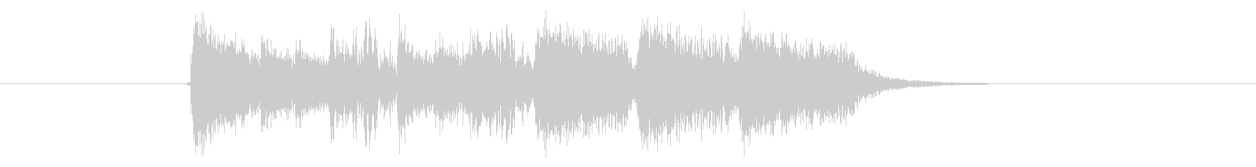 軽快なシンセパーカッションの短いジングルの未再生の波形