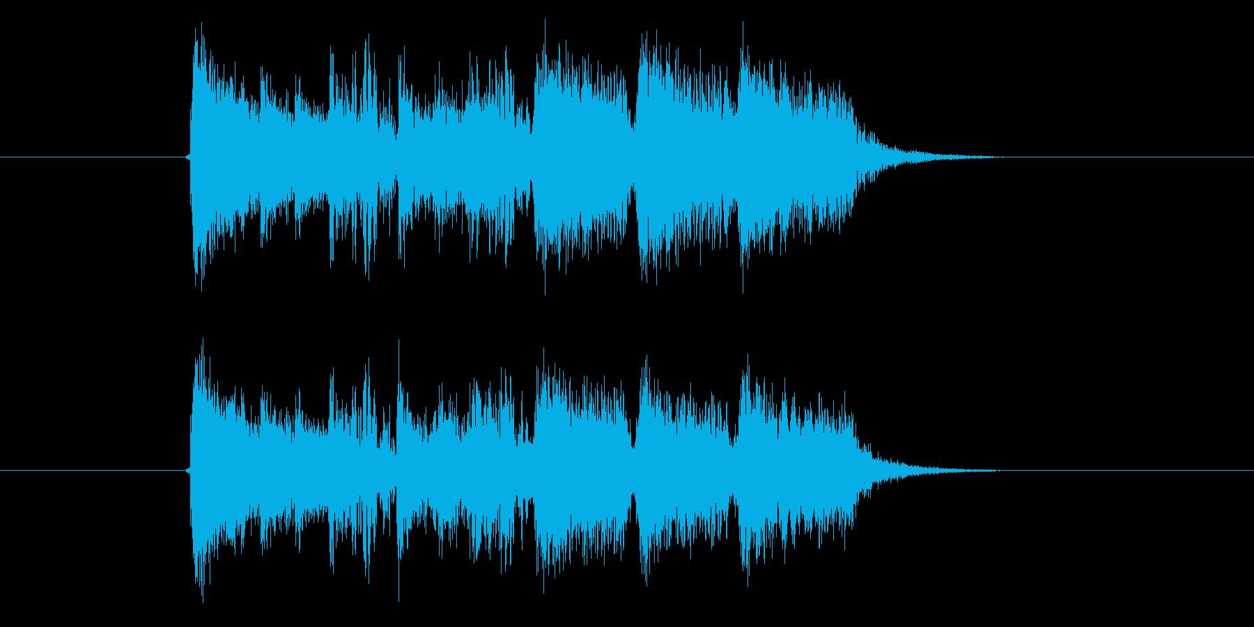 軽快なシンセパーカッションの短いジングルの再生済みの波形