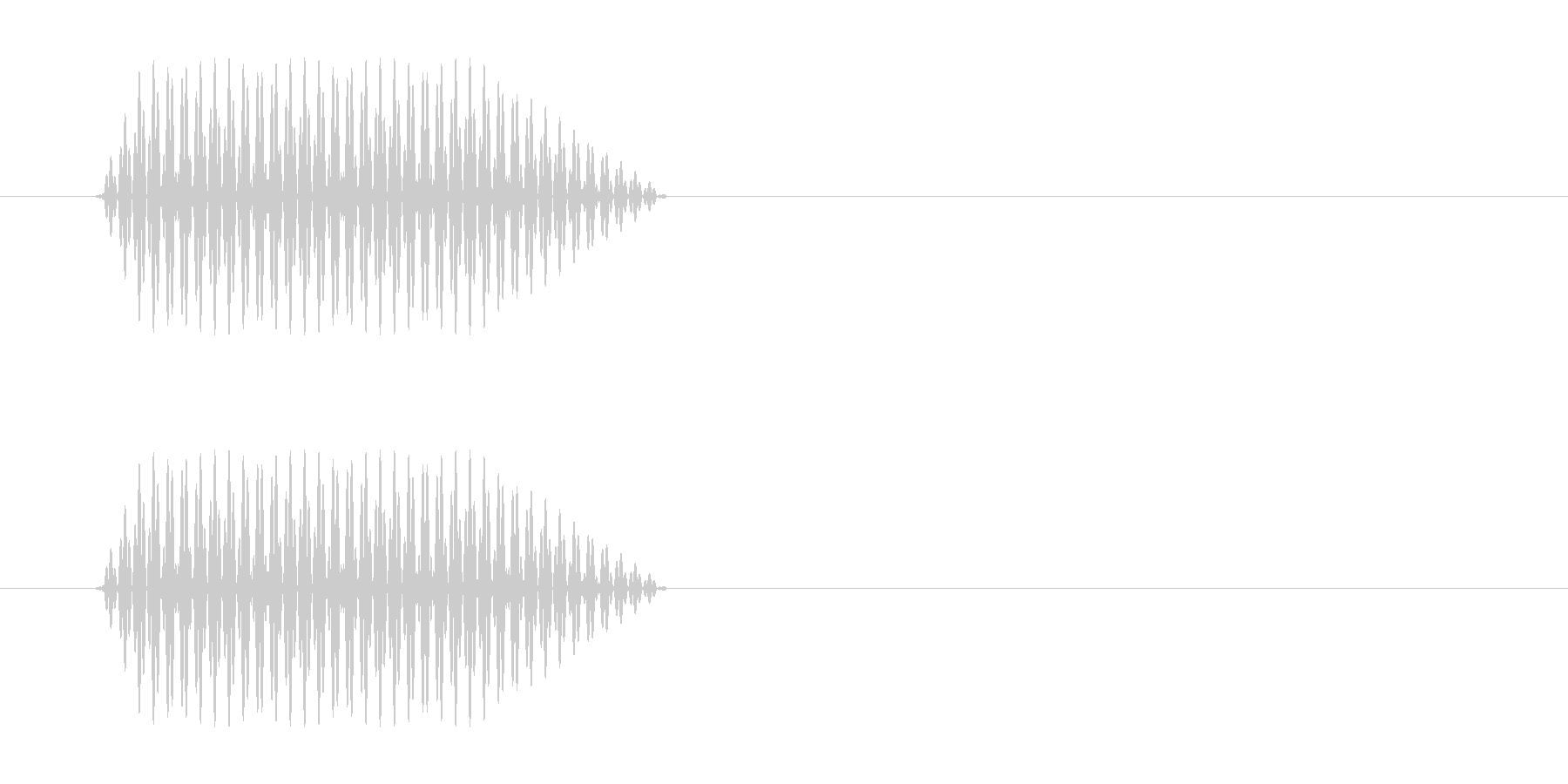 プッ(電話のプッシュ音)の未再生の波形