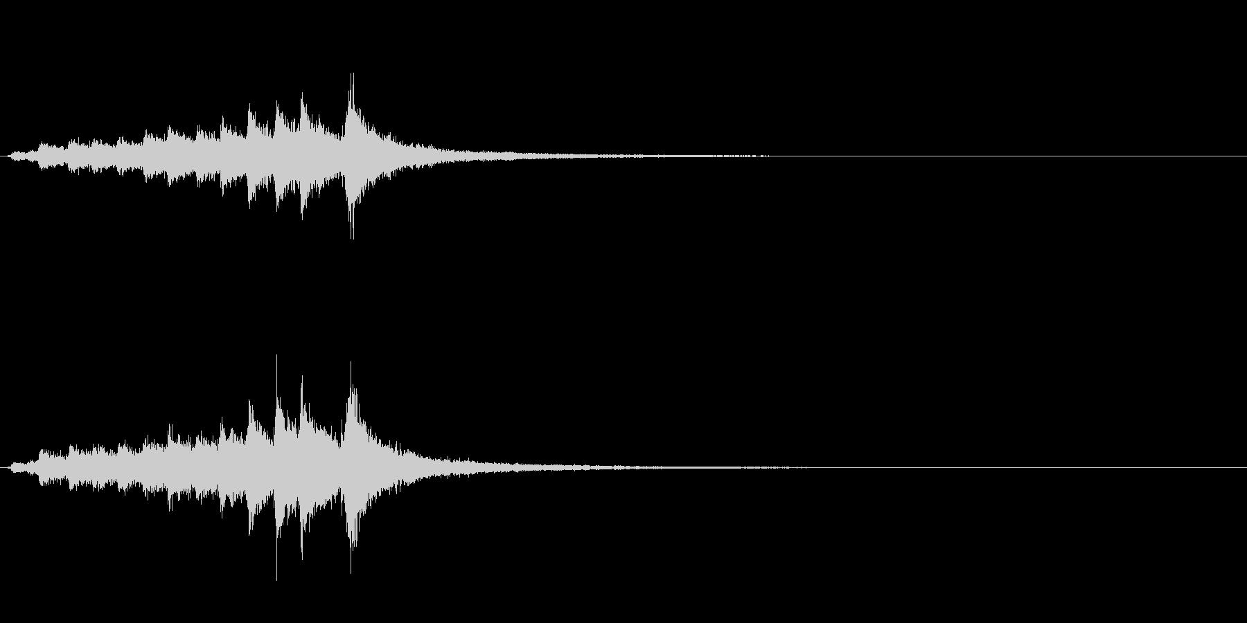 和製シンバル「みょうはち」のフレーズ音の未再生の波形