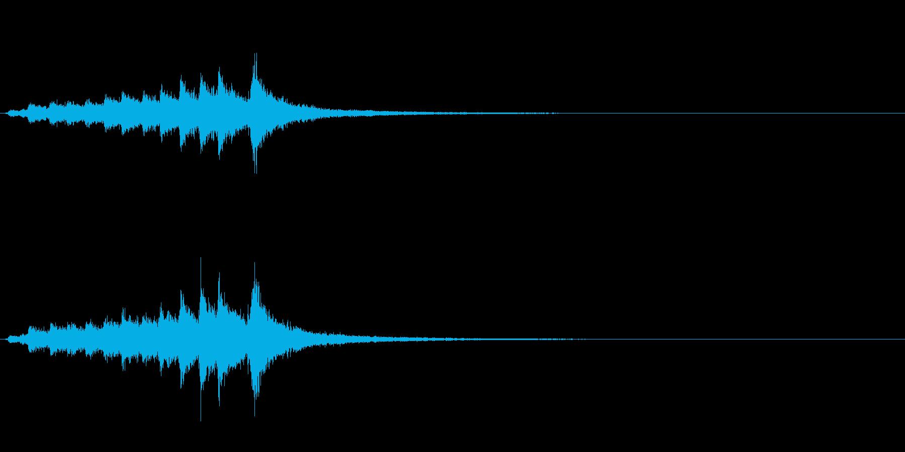 和製シンバル「みょうはち」のフレーズ音の再生済みの波形