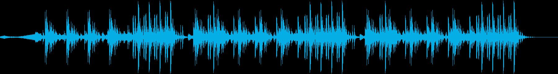 密林をイメージした怪しいBGMの再生済みの波形