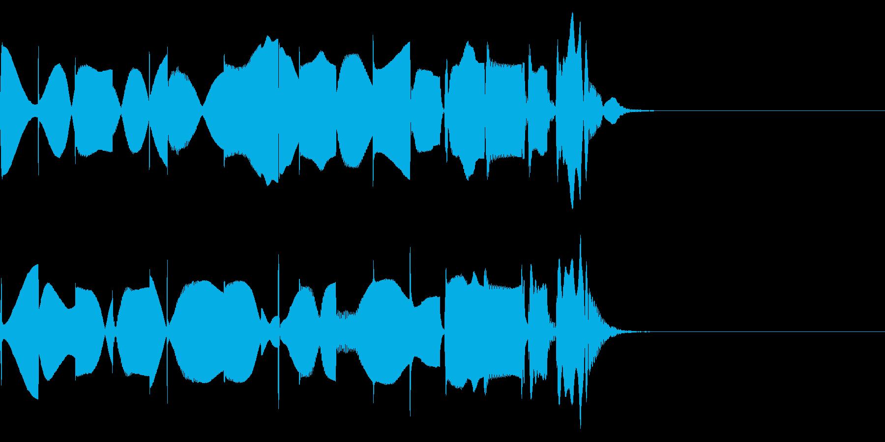 キャラクターが混乱したときの通知音の再生済みの波形