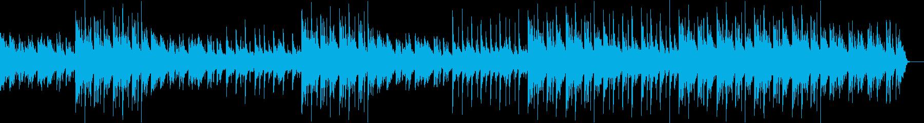 ピアノの音色が美しいゆったりした曲の再生済みの波形