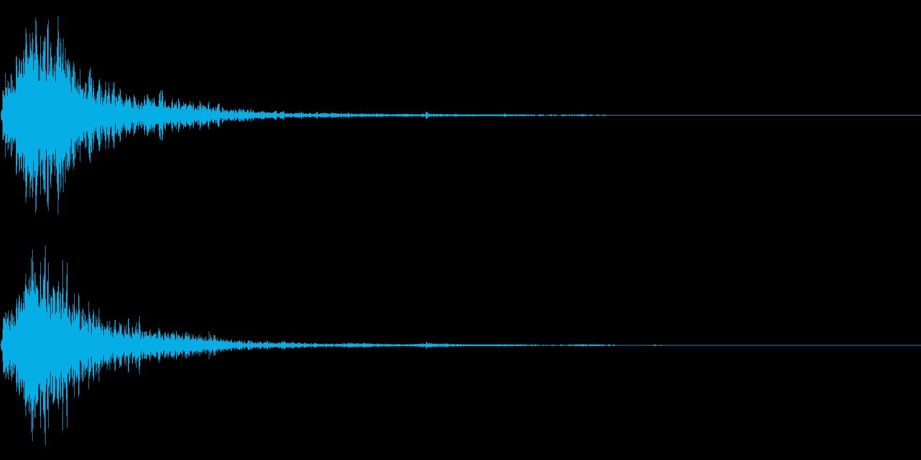 シュッ衝撃音ホラーサスペンスに最適のSEの再生済みの波形
