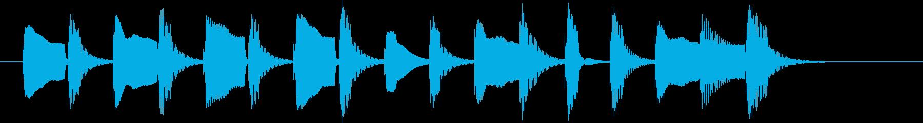 アニメ系ジングル_日常01の再生済みの波形
