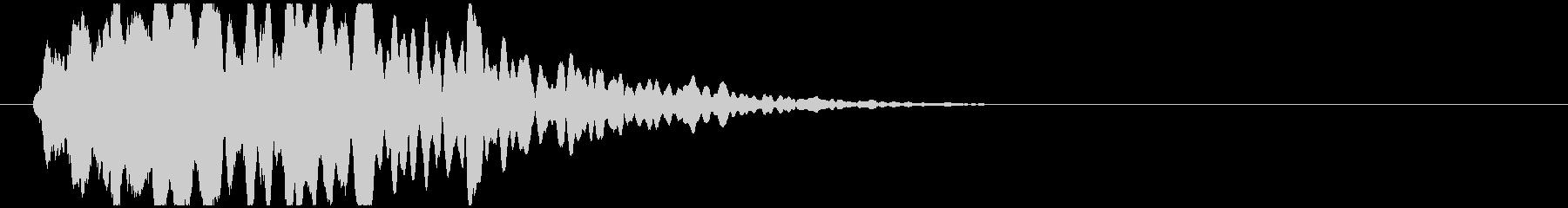 透明感のある衝突音(D4)の未再生の波形