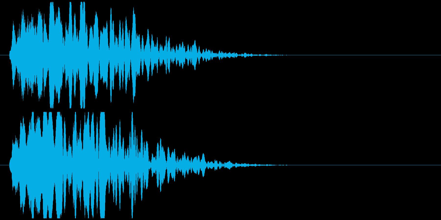 透明感のある衝突音(D4)の再生済みの波形