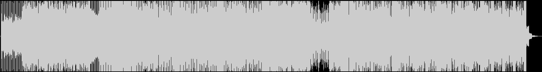 盛り上がり重視!ロック調エレクトロの未再生の波形