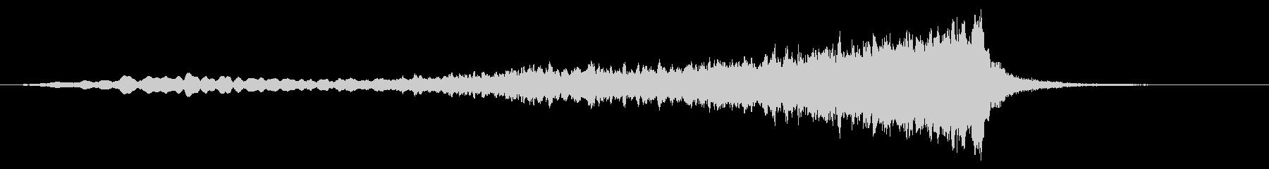 ホラープレイスの移行またはロゴの未再生の波形