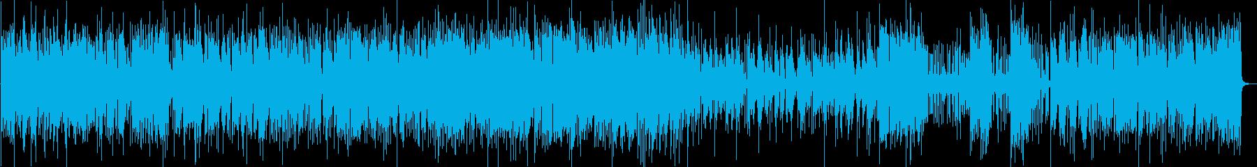 軽快なジャズピアノ の再生済みの波形
