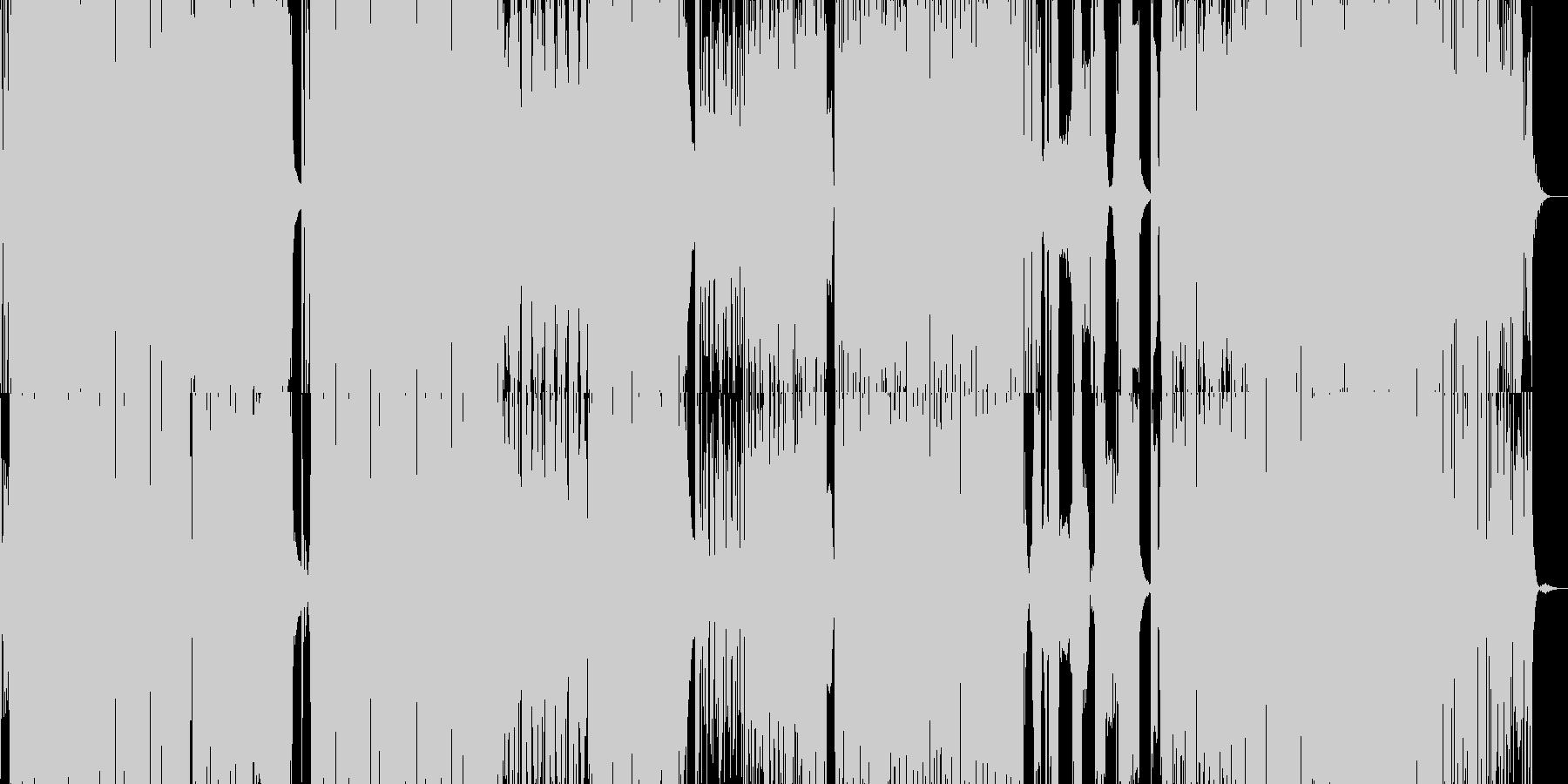 カタカナ日本語のFuture POPの未再生の波形