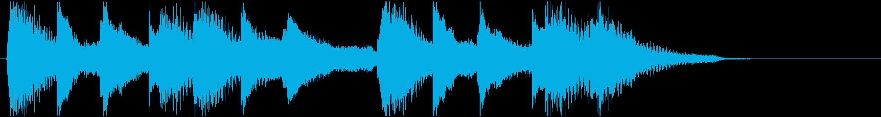 ピアノのみのジングルです。の再生済みの波形