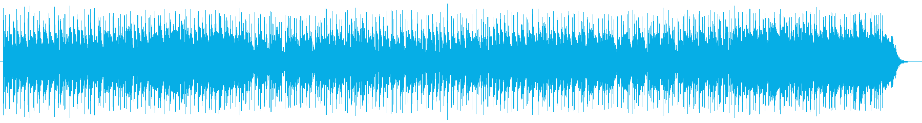 爽やかで穏やかなシンセサイザーサウンドの再生済みの波形