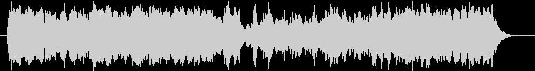 行進曲風のストリングスミュージックの未再生の波形