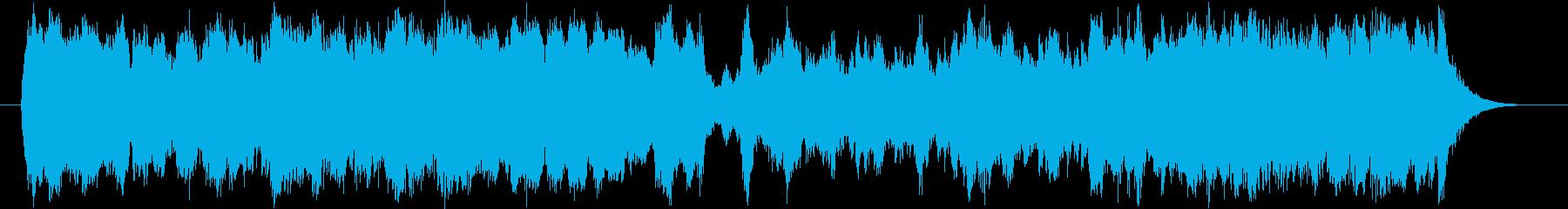行進曲風のストリングスミュージックの再生済みの波形