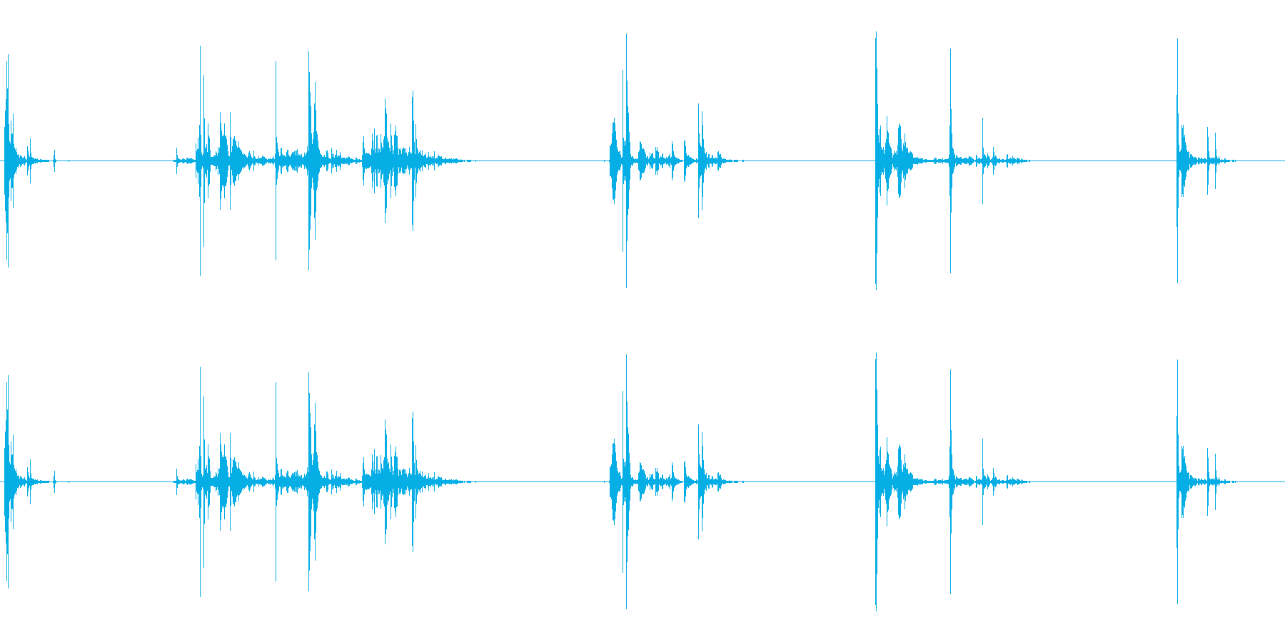 いくつかのシングルロックスインパク...の再生済みの波形