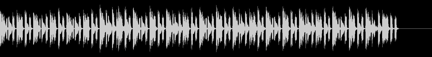 声の印象的なラジオジングルの未再生の波形