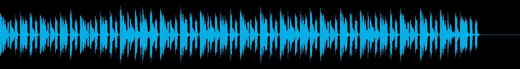 声の印象的なラジオジングルの再生済みの波形