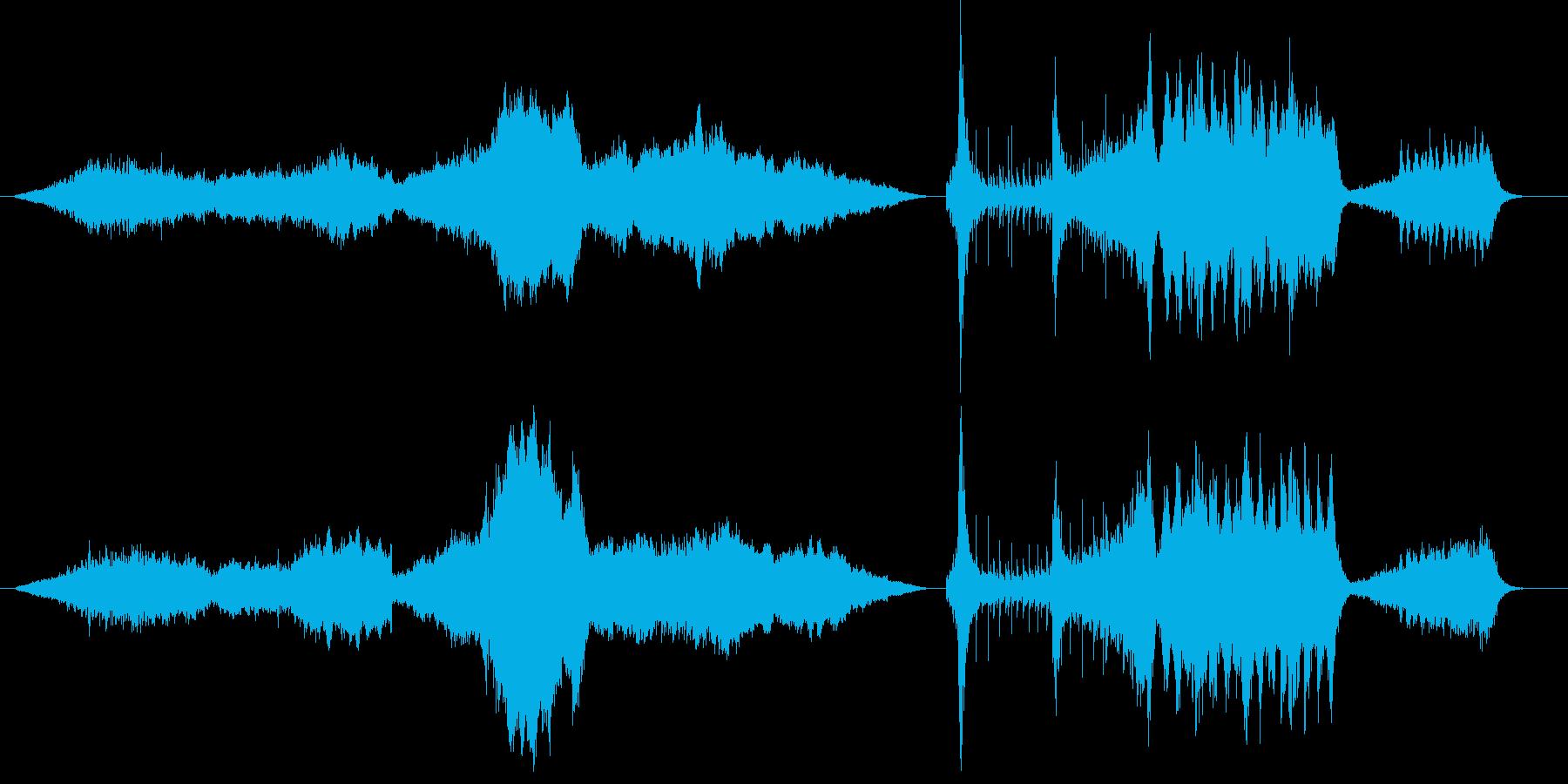 オーケストラを使った映画風BGMの再生済みの波形