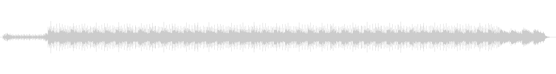 不気味なBGMの未再生の波形