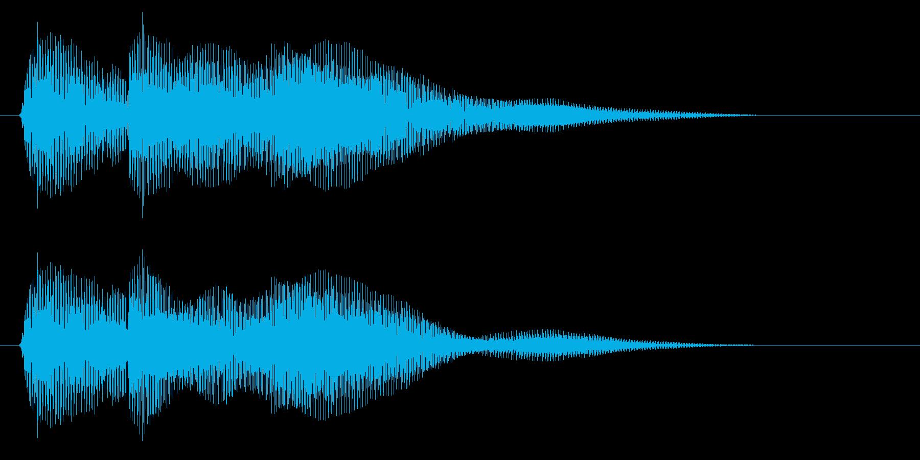 ピコン!(クリック)の再生済みの波形