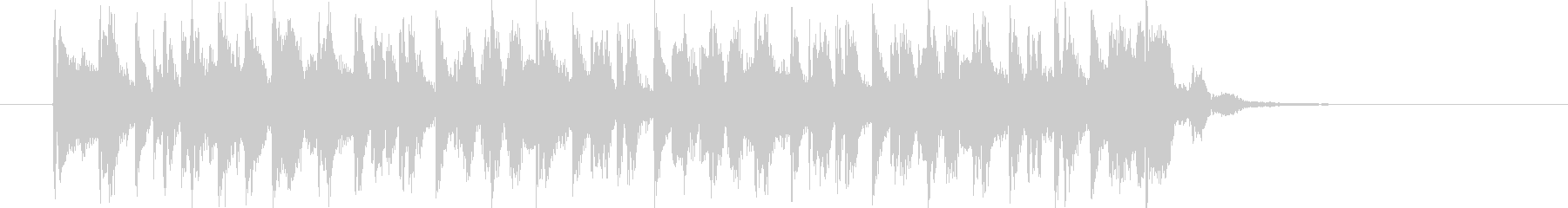 ノリの良いヒップホップナンバーの未再生の波形
