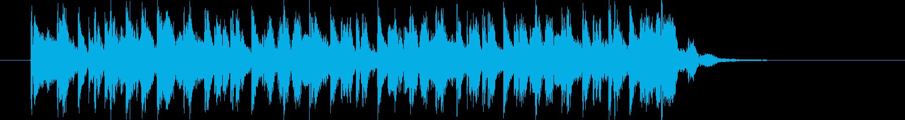 ノリの良いヒップホップナンバーの再生済みの波形