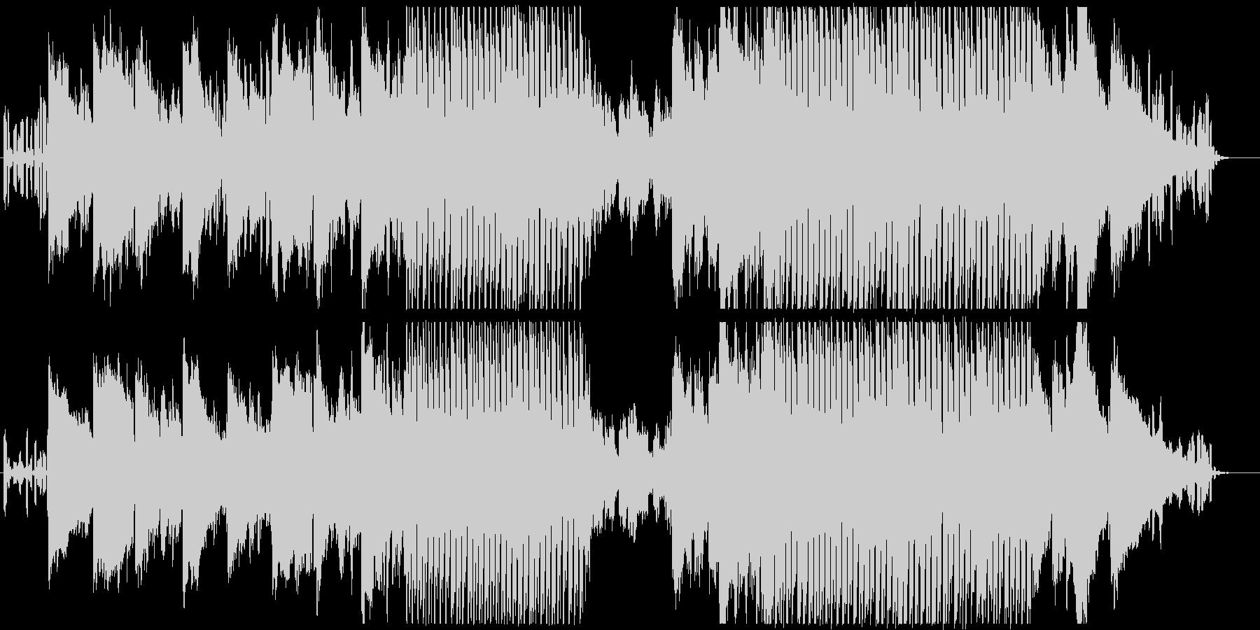 シンセやピアノ・和楽器を使用した優しい曲の未再生の波形