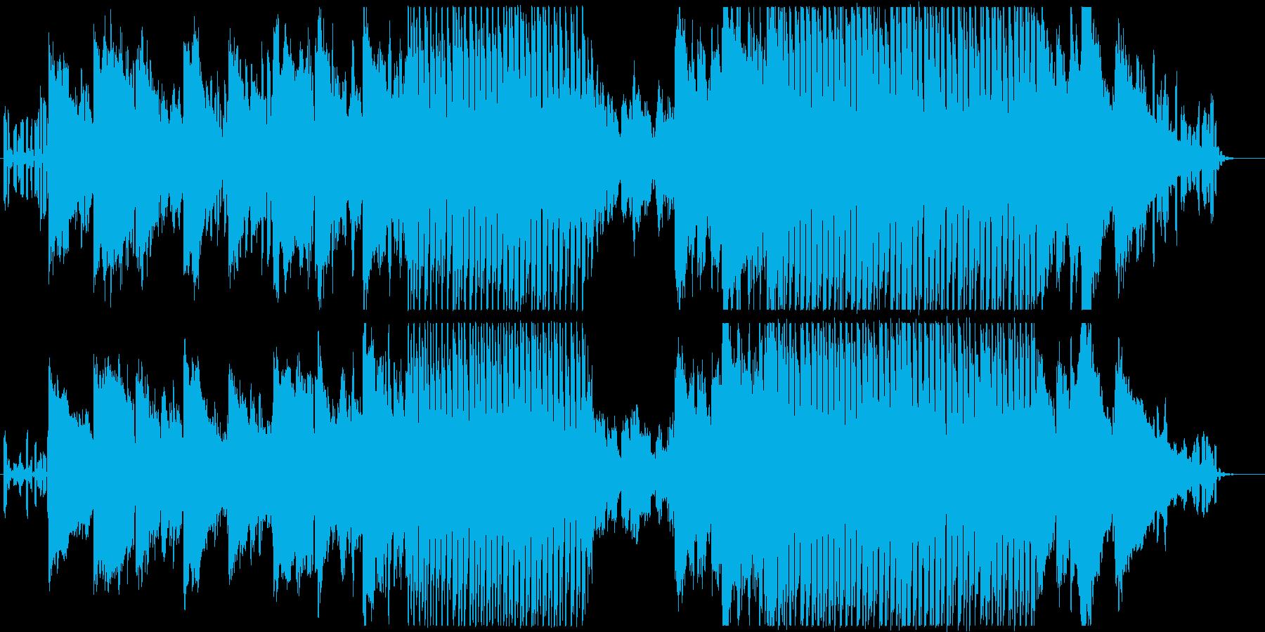 シンセやピアノ・和楽器を使用した優しい曲の再生済みの波形