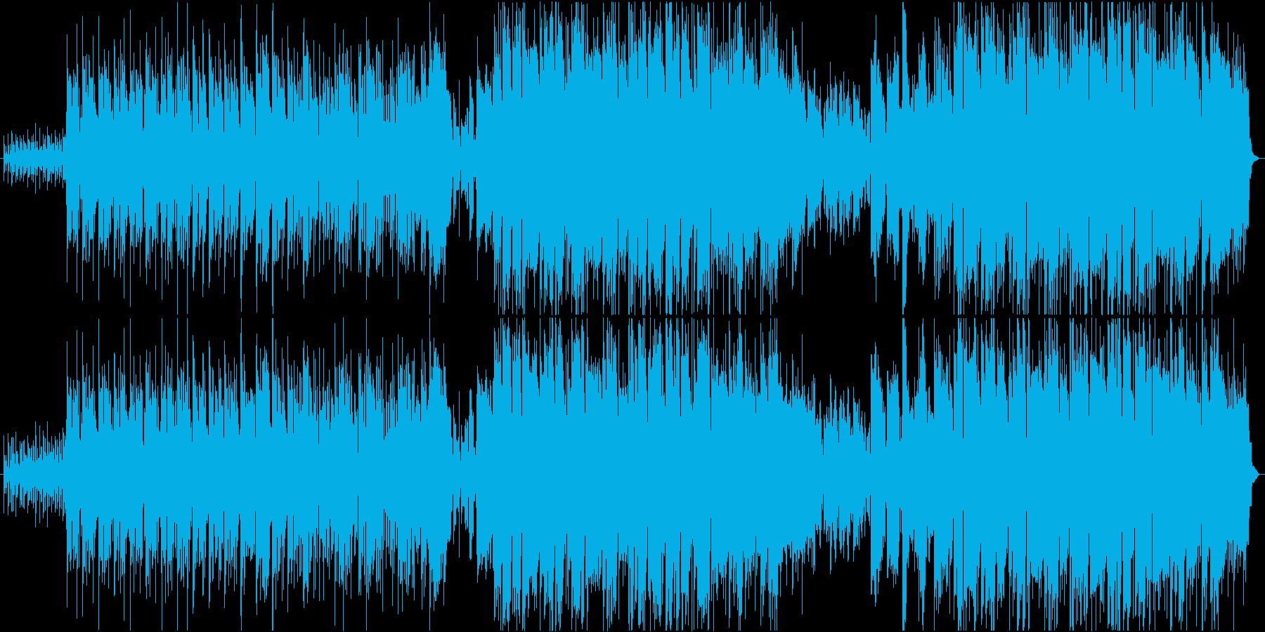 ピースフルな雰囲気のミディアムポップスの再生済みの波形