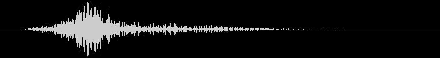 トランジション ヒューシュ01の未再生の波形