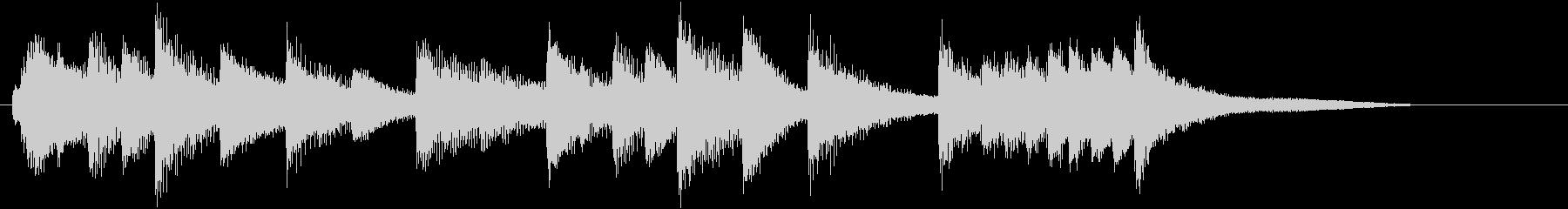 童謡・紅葉モチーフのピアノジングルAの未再生の波形