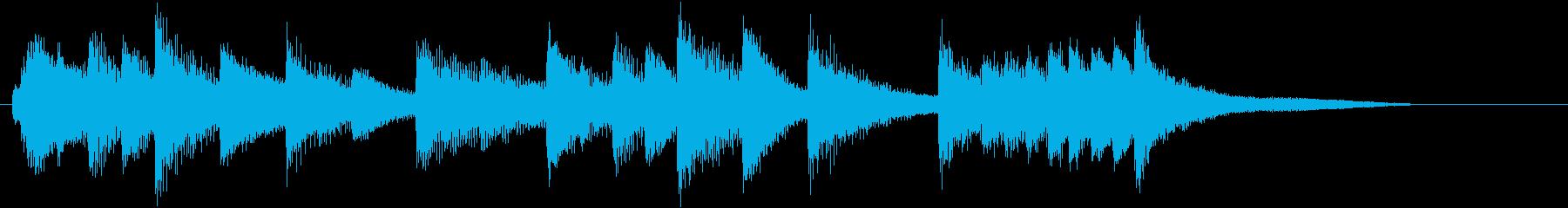 童謡・紅葉モチーフのピアノジングルAの再生済みの波形