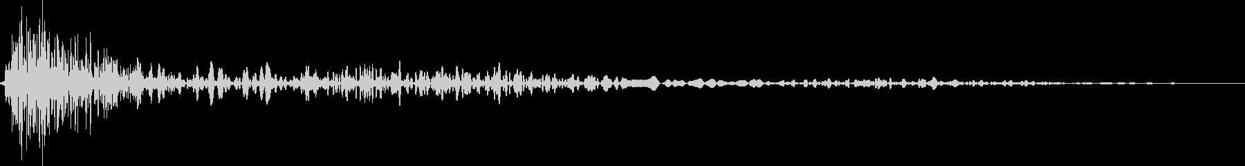 シンセで作った着地音の未再生の波形