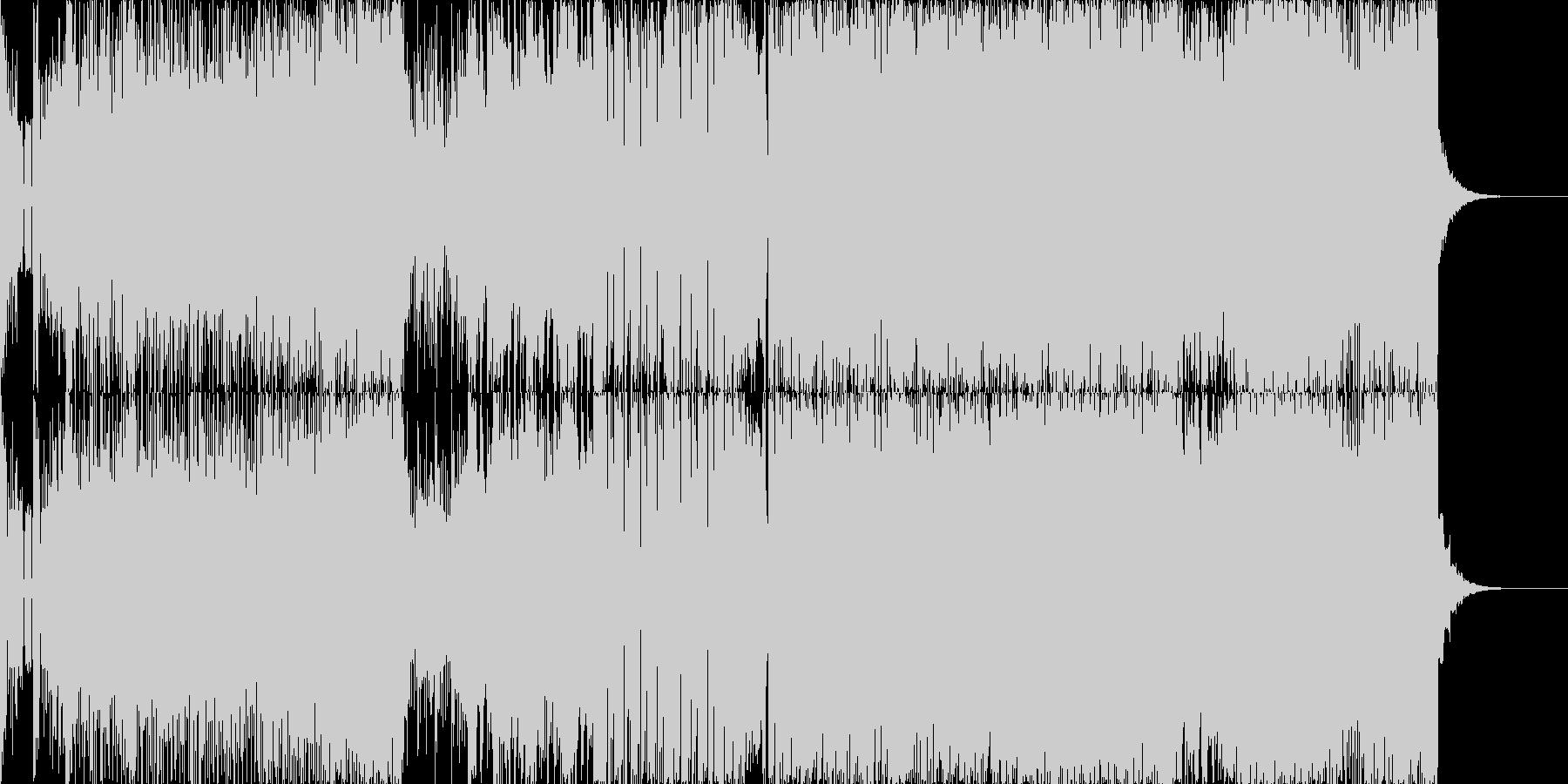 ビリビリ!シンセフュージョンの未再生の波形