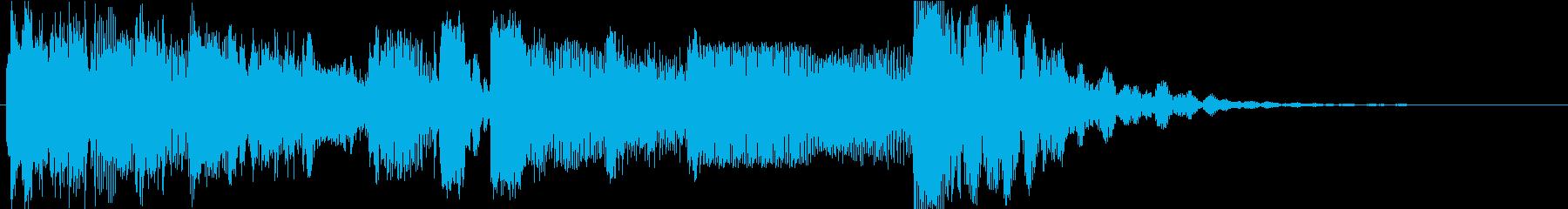 短いものの再生済みの波形