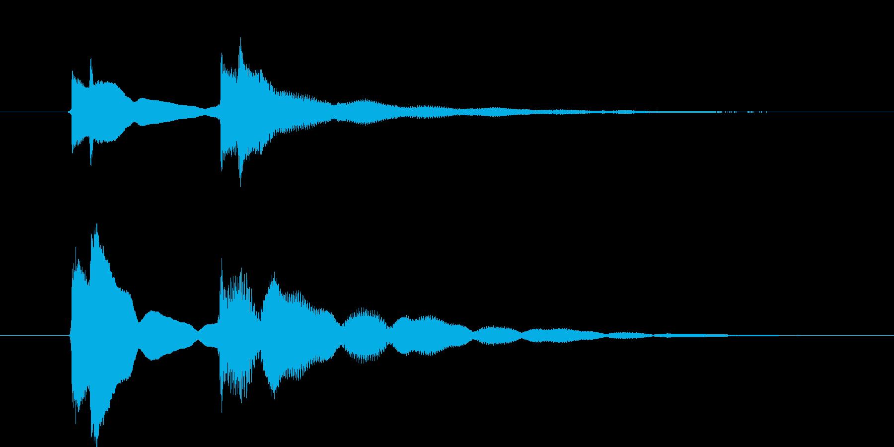クイズ正解音(ピンポン)3の再生済みの波形
