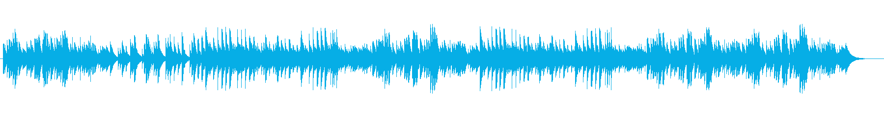 Music box relaxation music's reproduced waveform